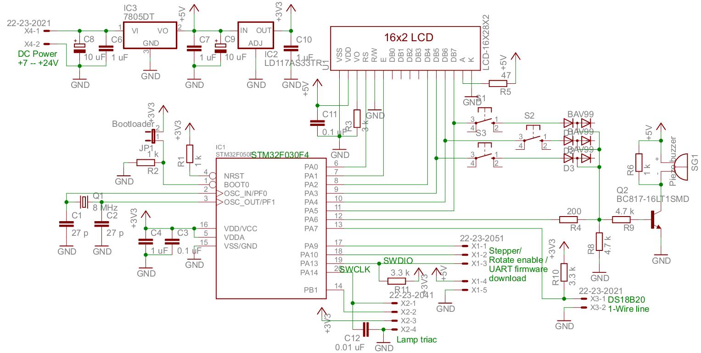 Контроллер для инкубатора своими руками схема